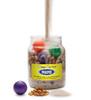 Mayo Jar, with sand, pebbles, and golf balls