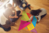 Really BIG Tangrams; in use
