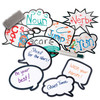 Laminated Speech Bubbles; with dry-erase writing