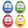 Happy Face Squishy Ball; 4 assorted colors