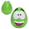 Happy Face Squishy Ball; green