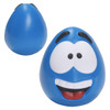 Happy Face Squishy Ball; blue