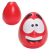 Happy Face Squishy Ball; red