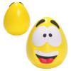 Happy Face Squishy Ball; yellow