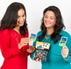 Two women using  UNZiP-it! cards