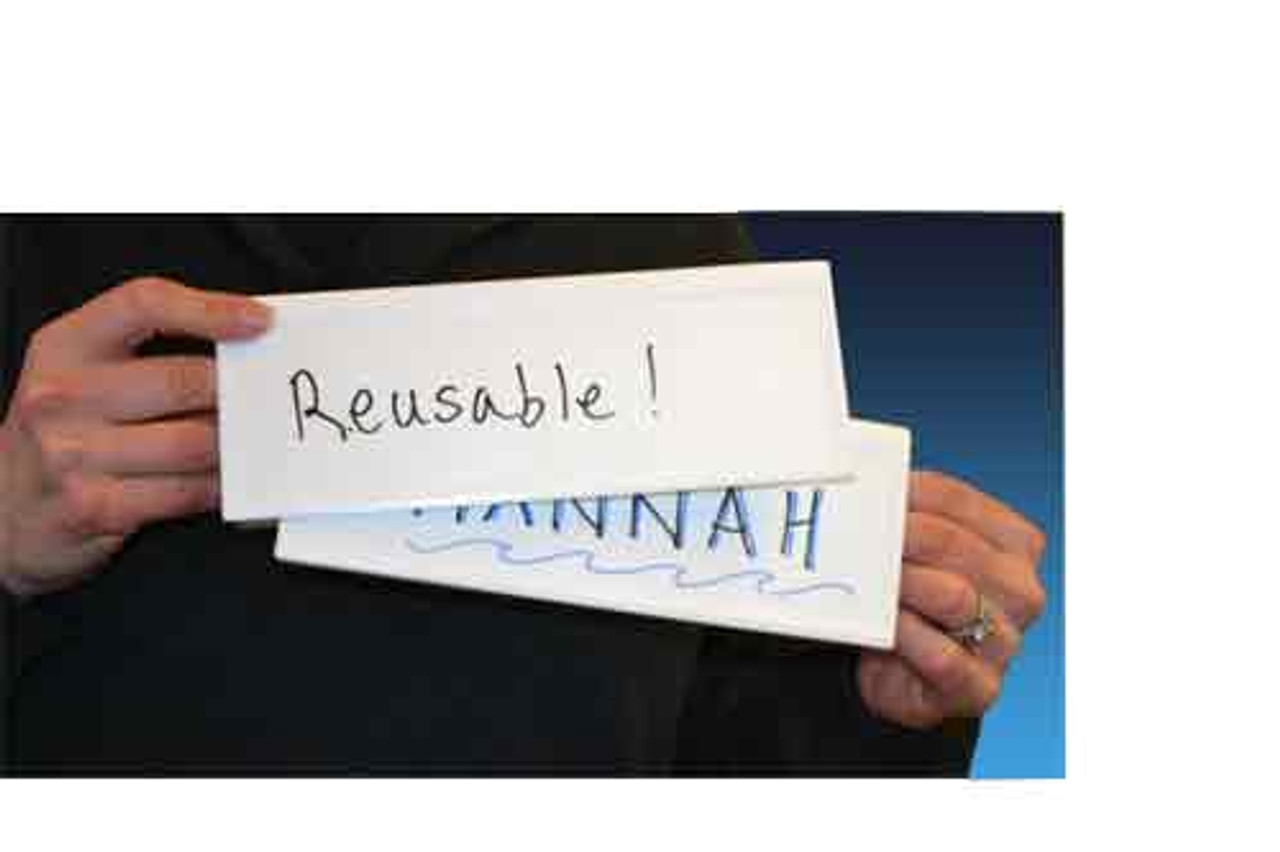 Reusable Name Card Two-sided Dry-erase Tents, SMALL