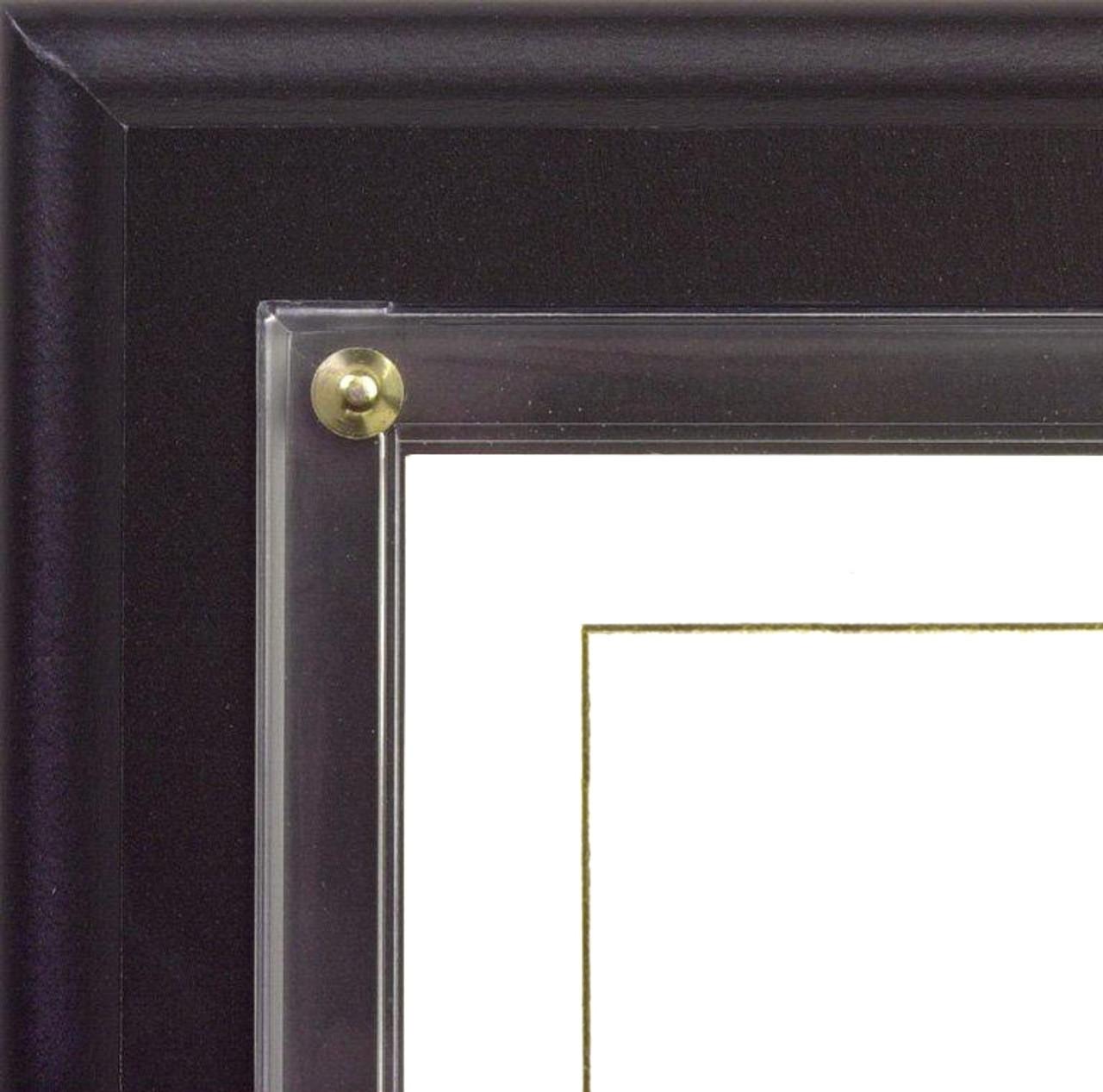 Certificate Plaque; close-up of black plaque