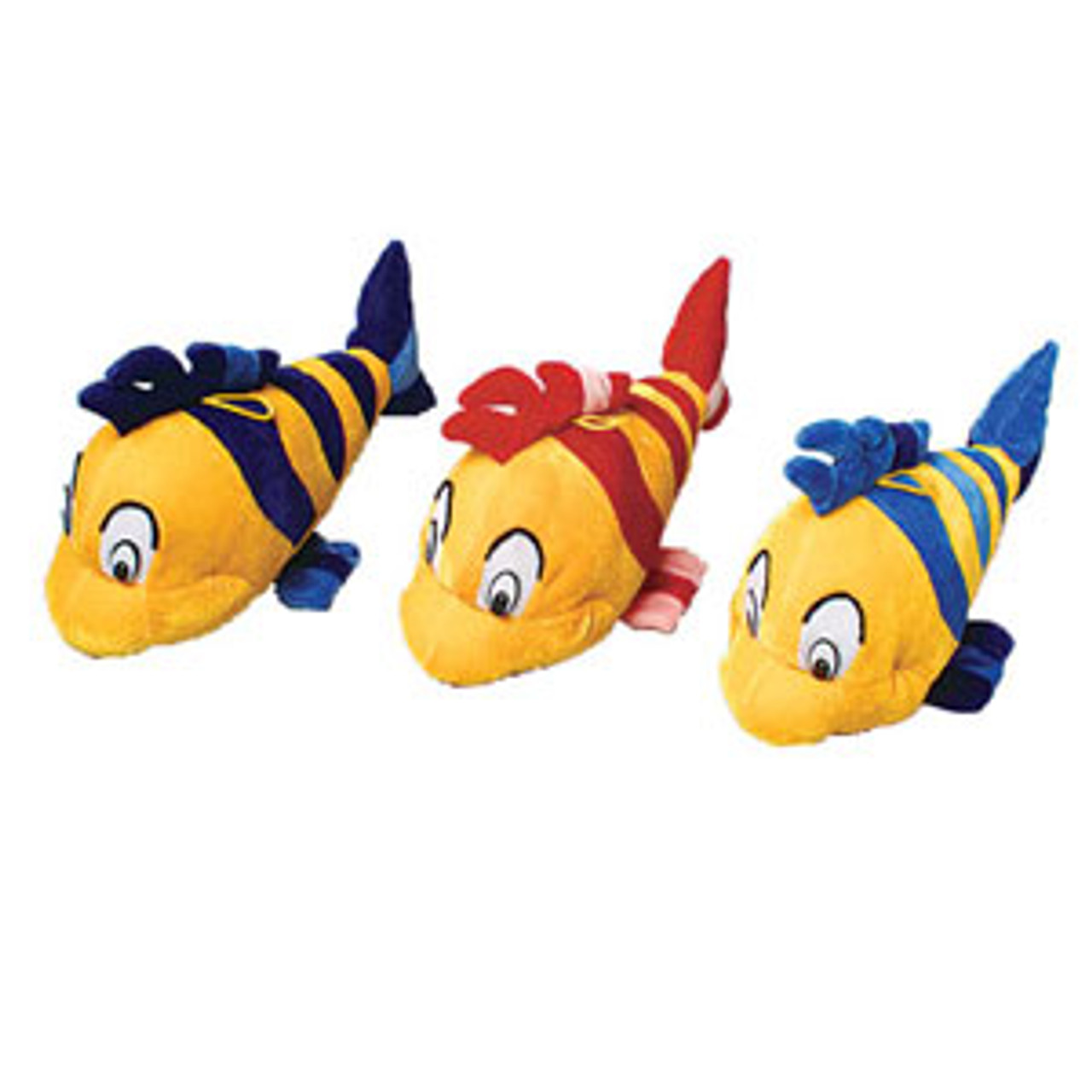 Plush Fish Striped; 3 assorted colors