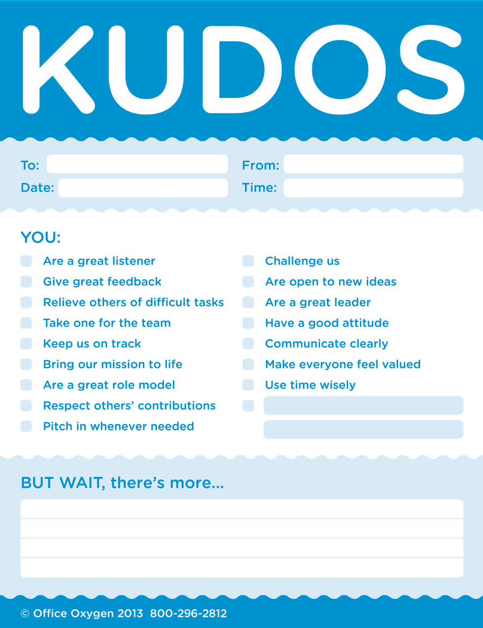 Kudos for Colleagues Note Pad Set; close-up
