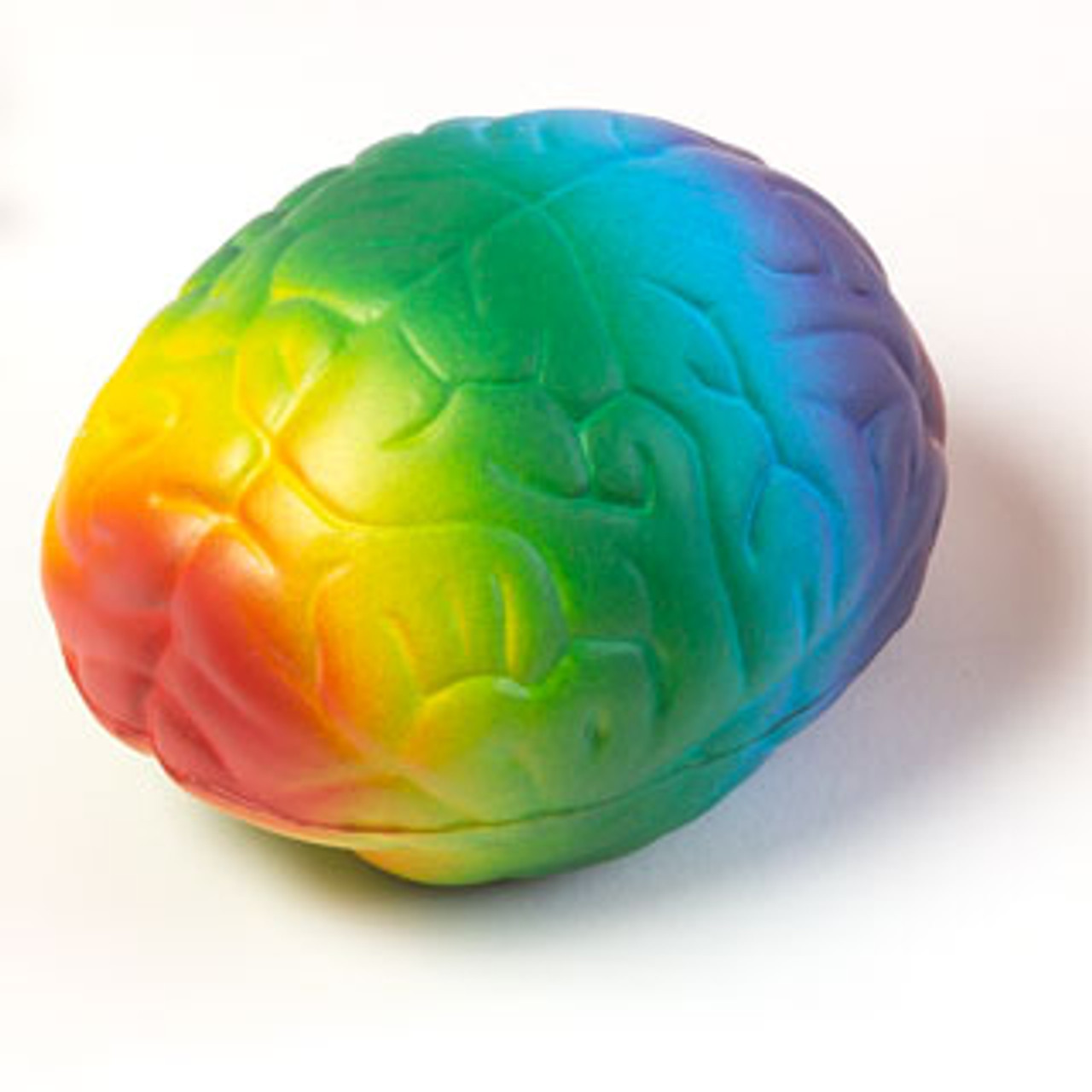 Brain Stress ball - side angle view