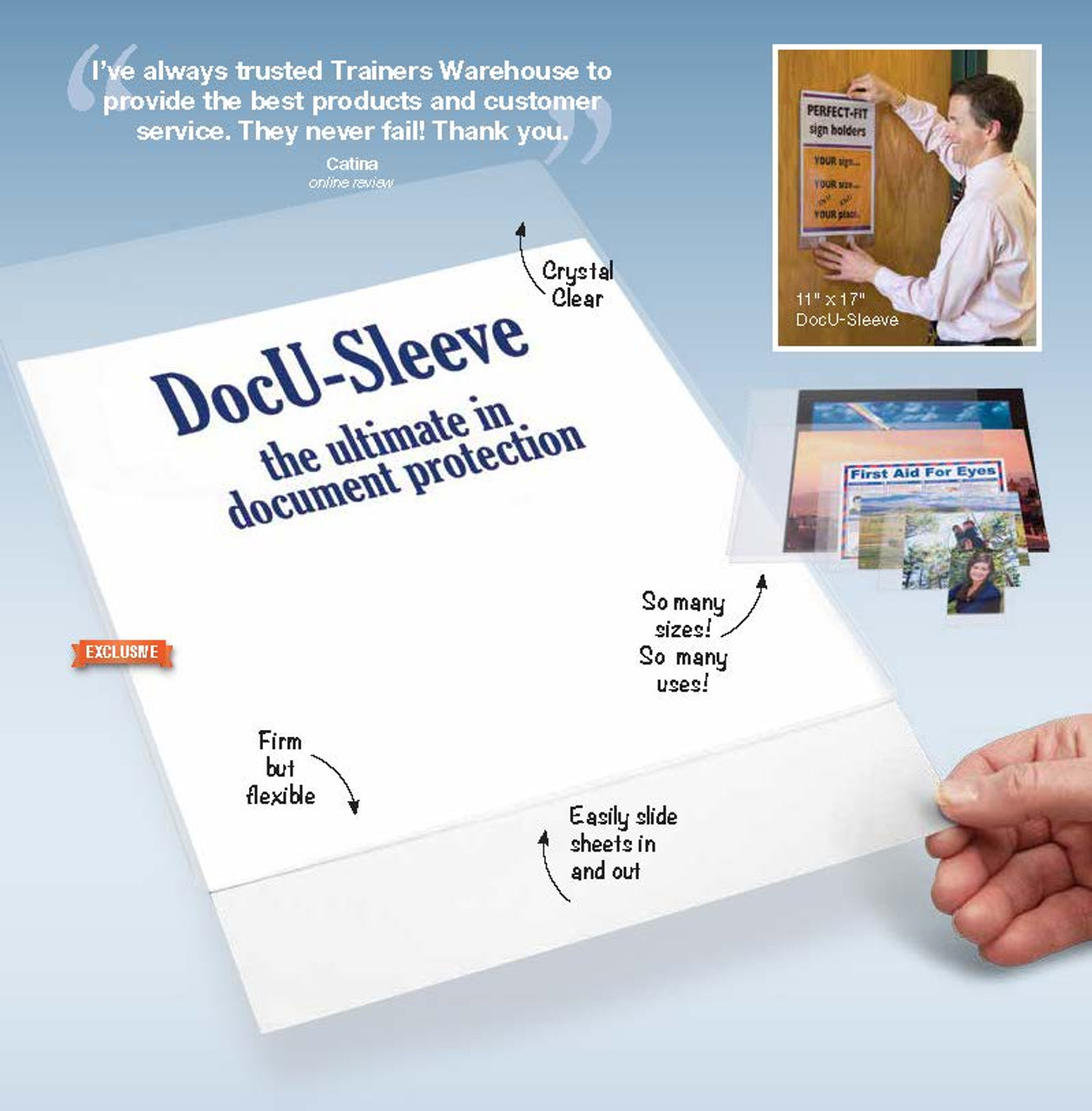 DocU-Sleeve - features