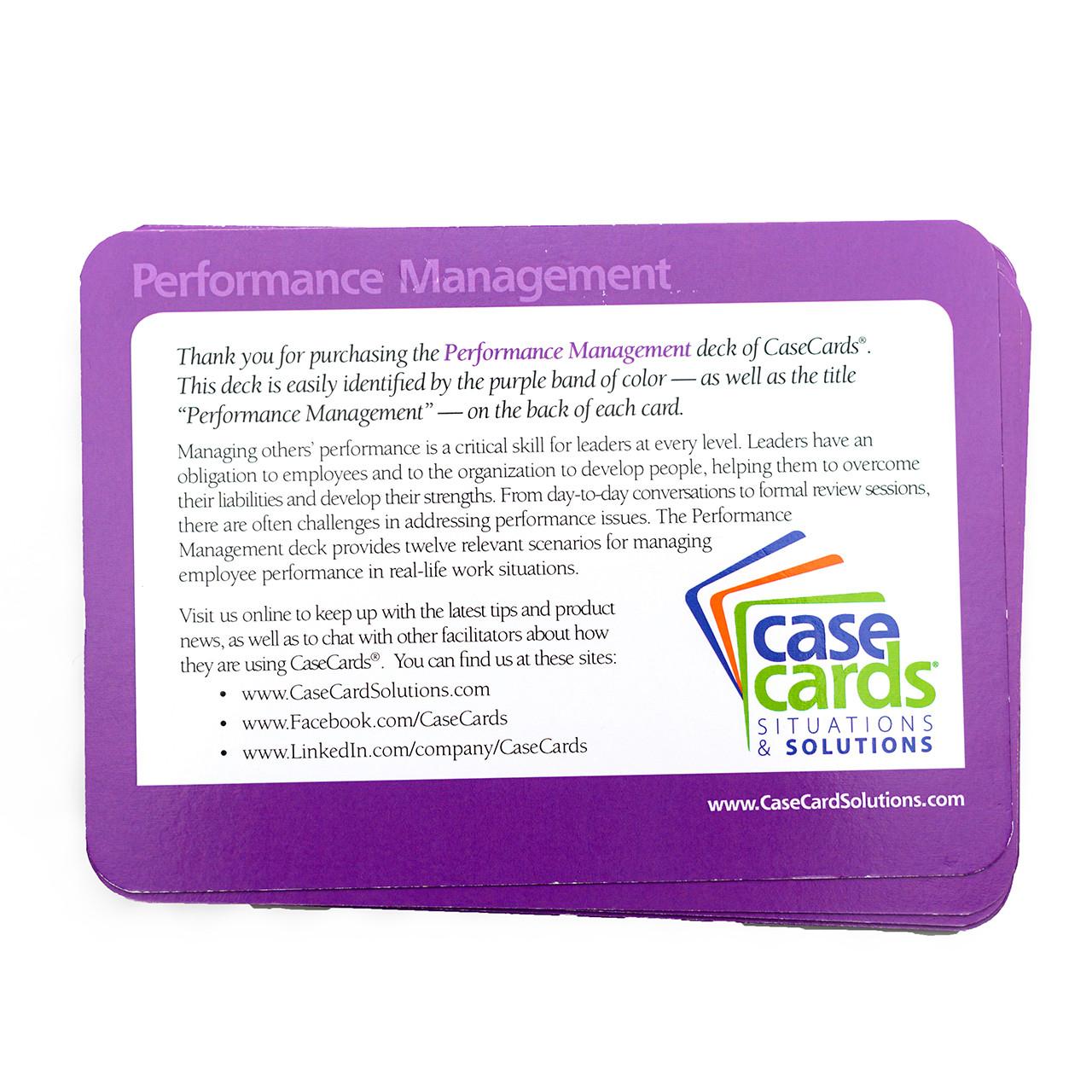 CaseCards - Performance Management Back