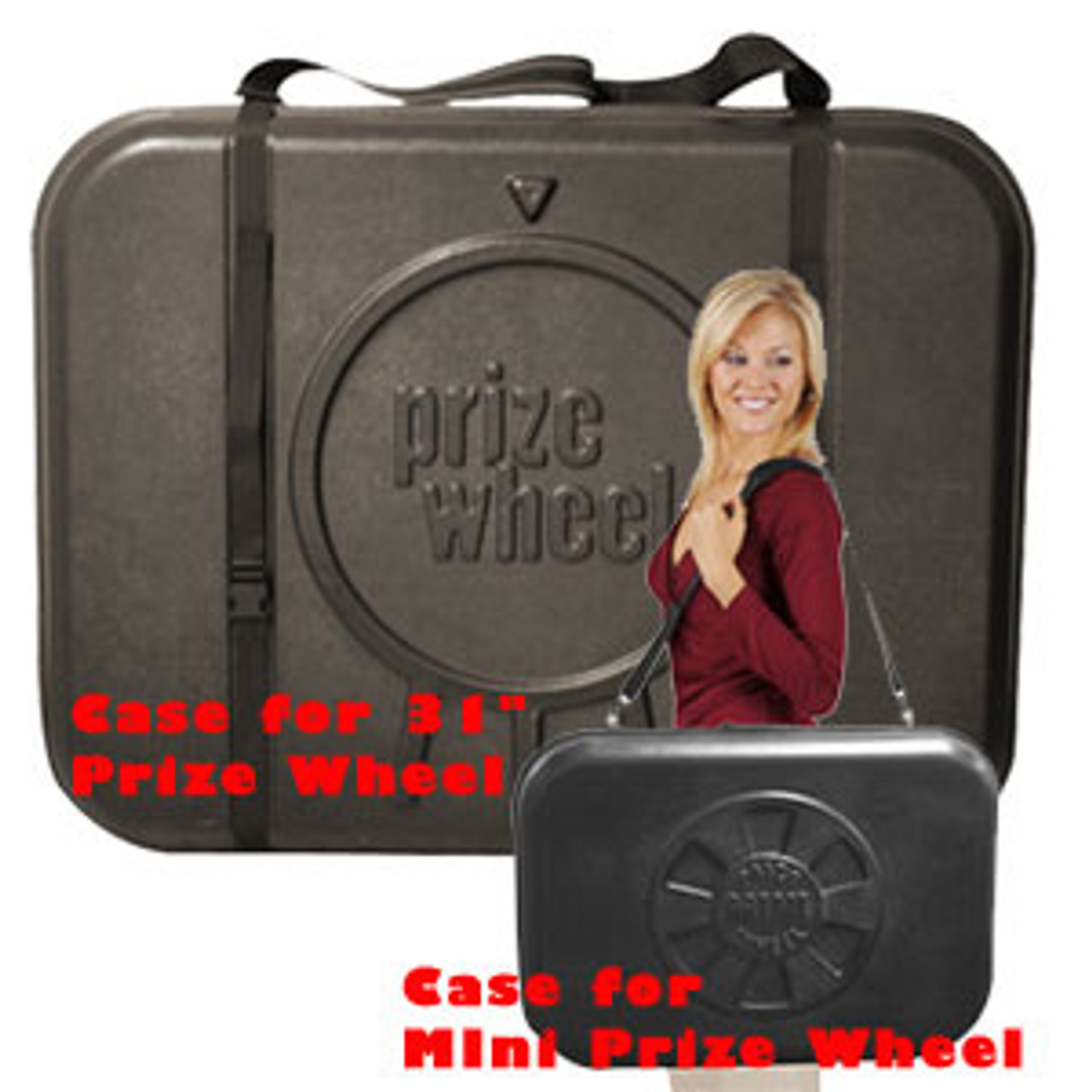 Travel Case for 31-inch Prize Wheel;  large and small cases