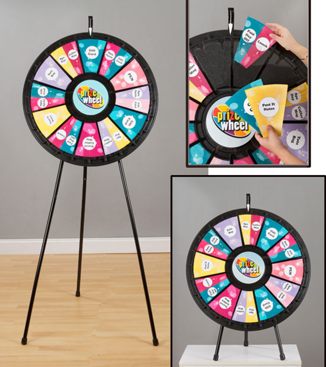 12- to 24-Slot Adaptable Prize Wheel Floor & Tabletop model