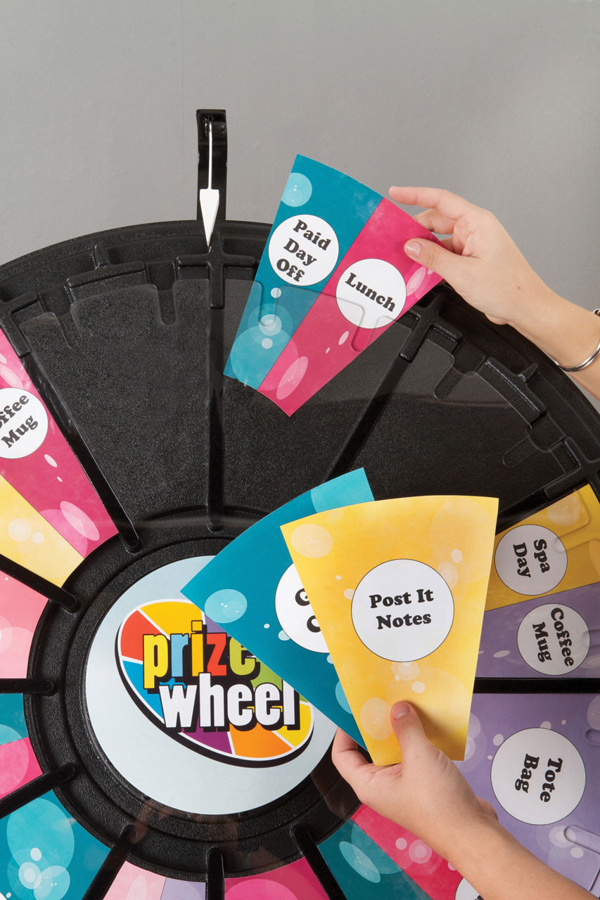 Prize Wheel; inserting customized prizes