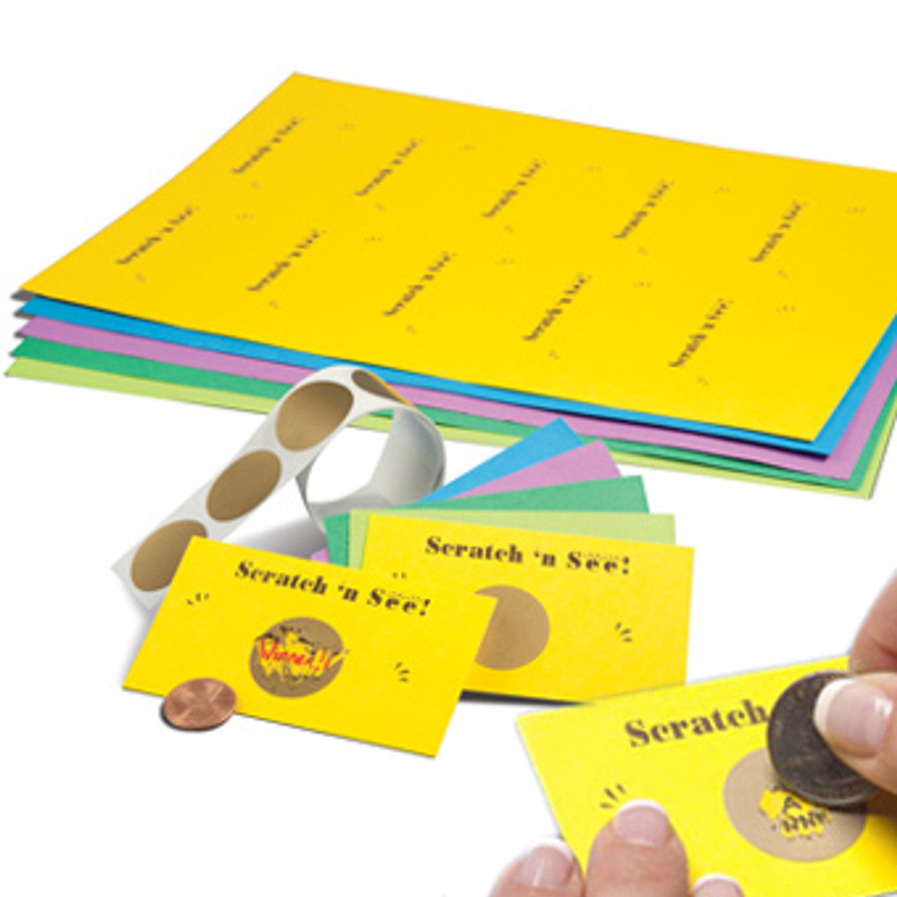 Scratch 'n See -- Cards & Stickers (100 sets)