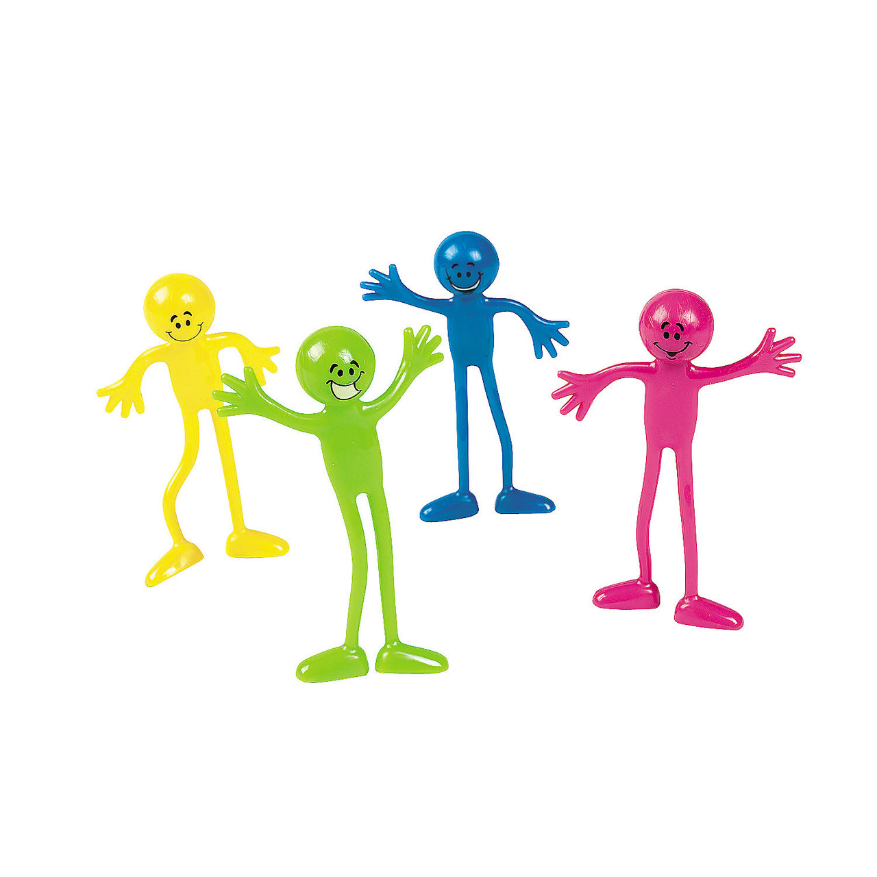 Smile Face Bendables; four assorted colors