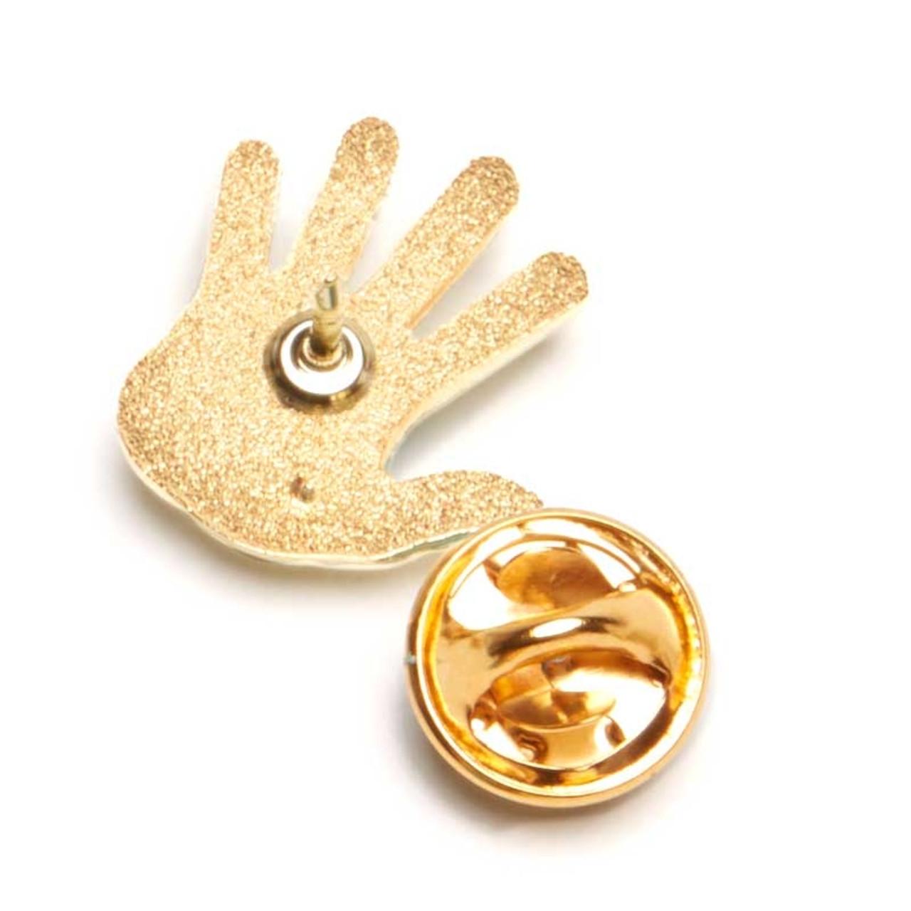 High Five Lapel Pin; back