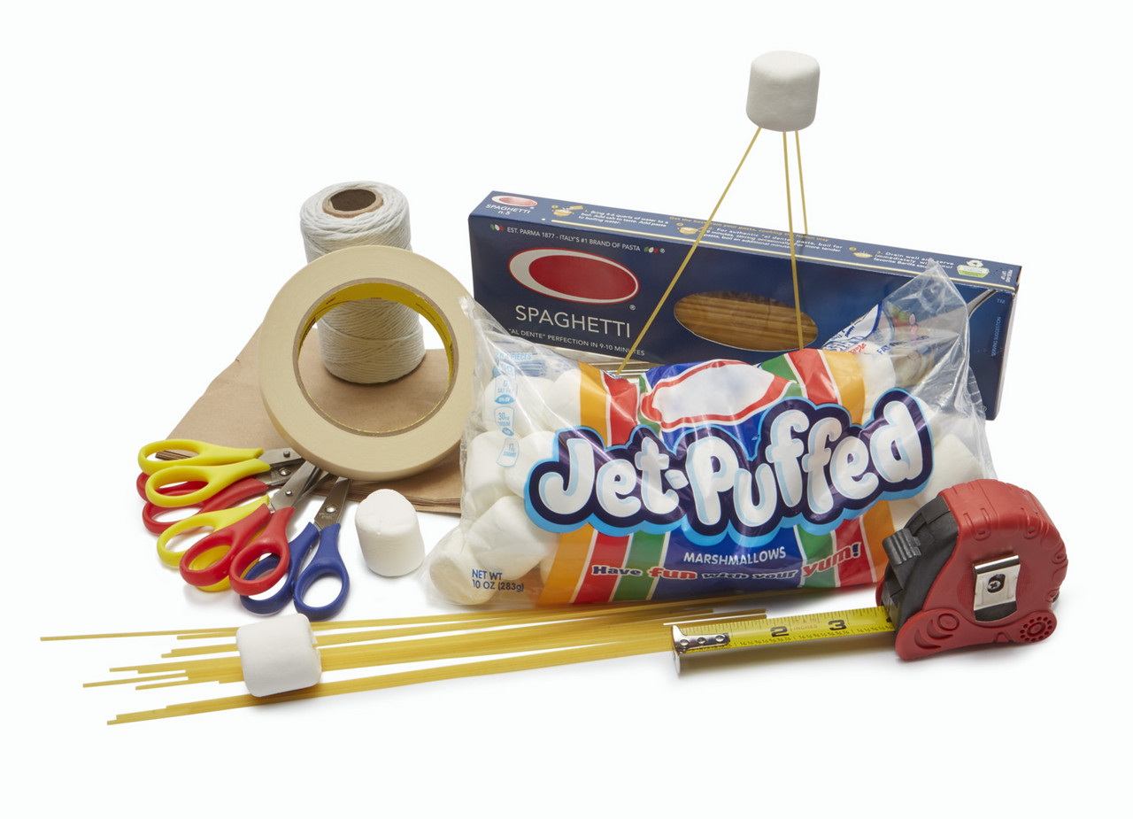 Marshmallow Challenge; game parts