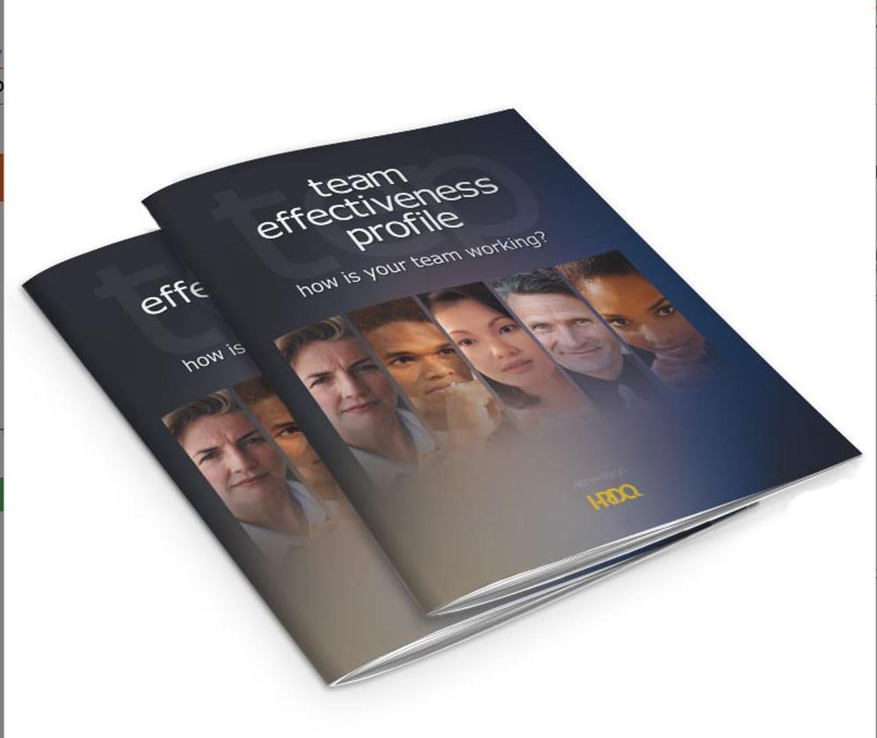 Team Effectiveness Profile -- workbook