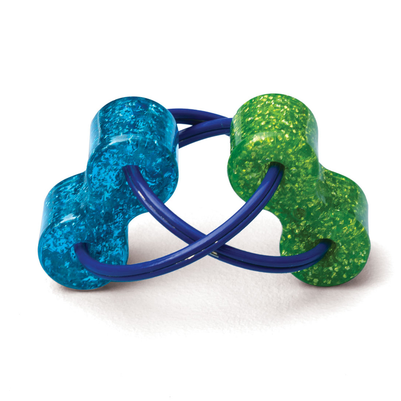 Loopeez;  blue and green