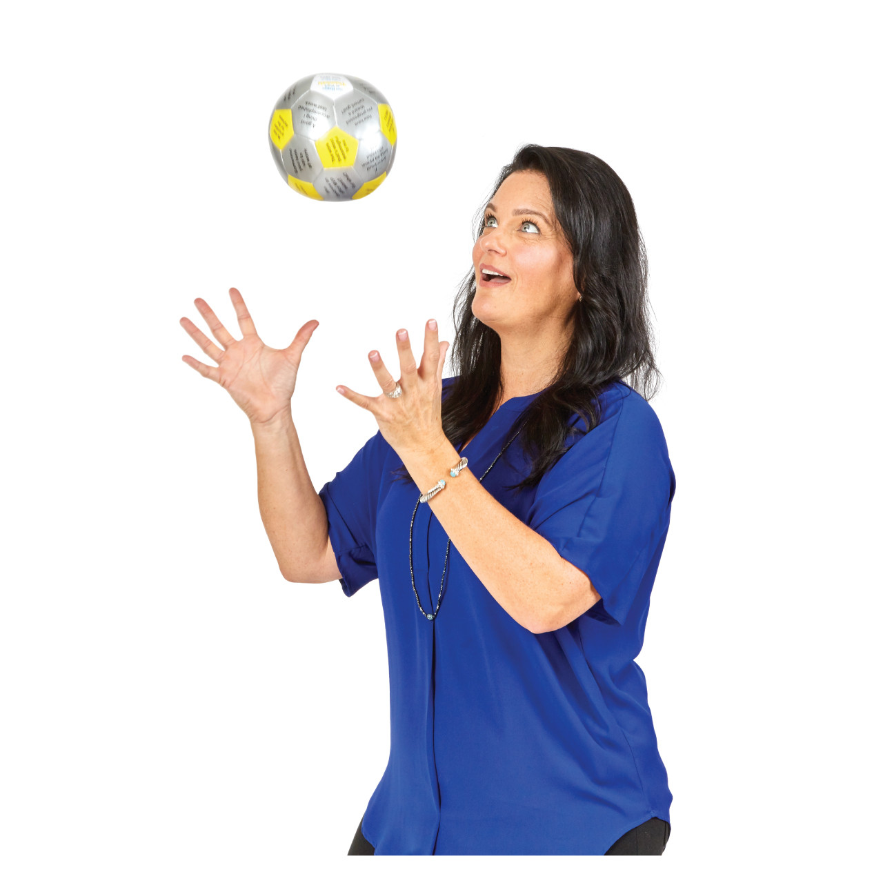 Get Happy at Work Thumball; woman catching ball