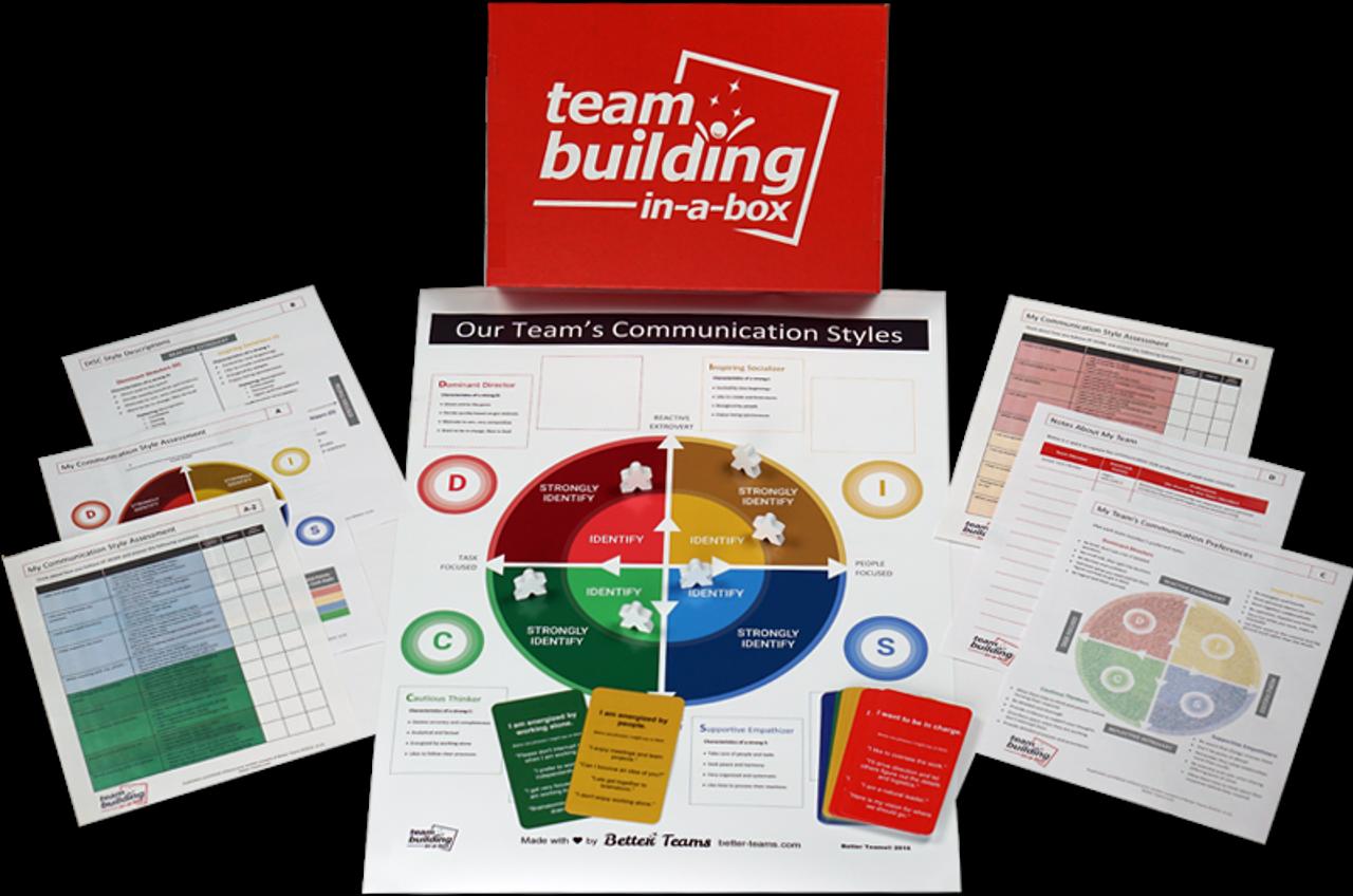 Teambuilding In a Box; activity parts