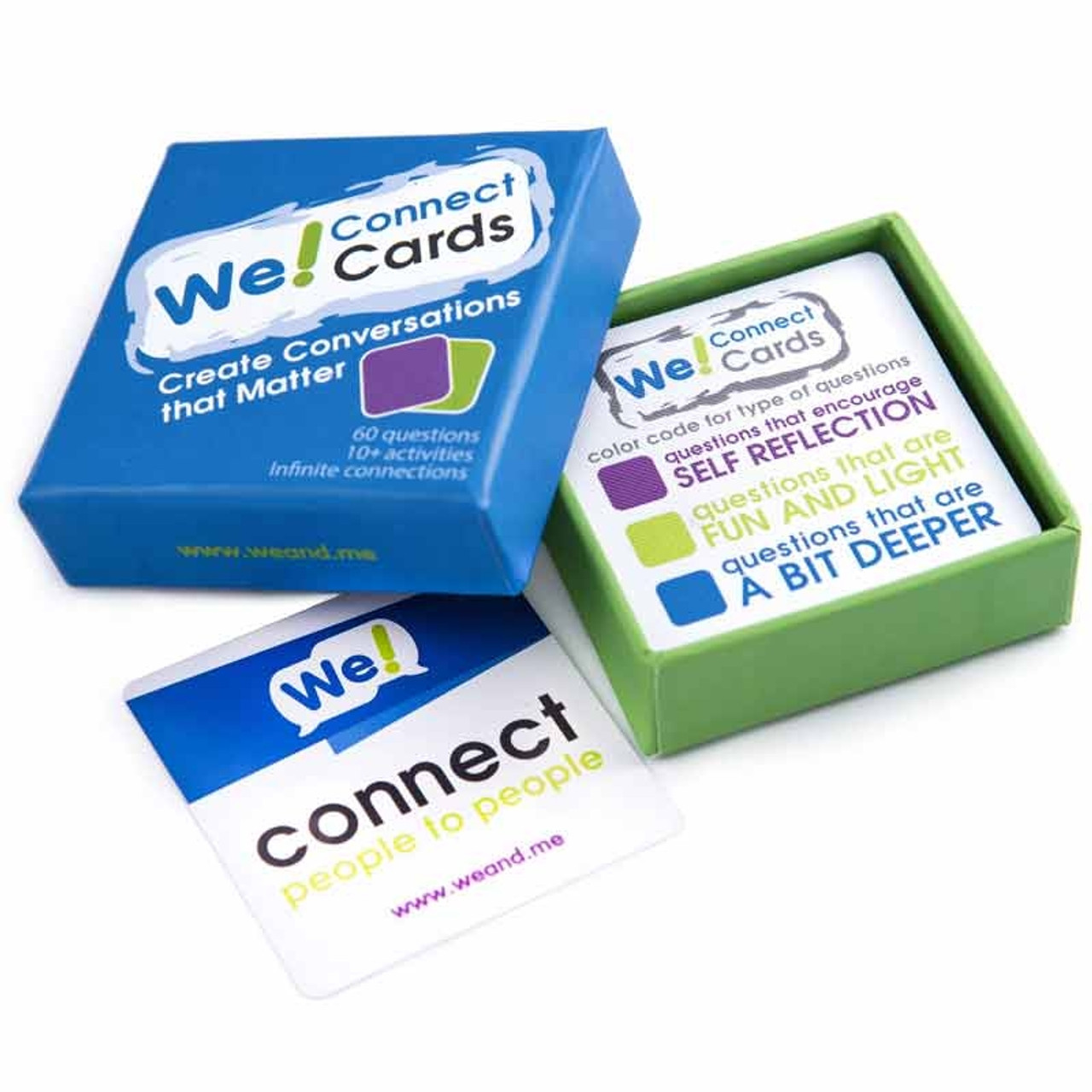 We Connect Cards; in box