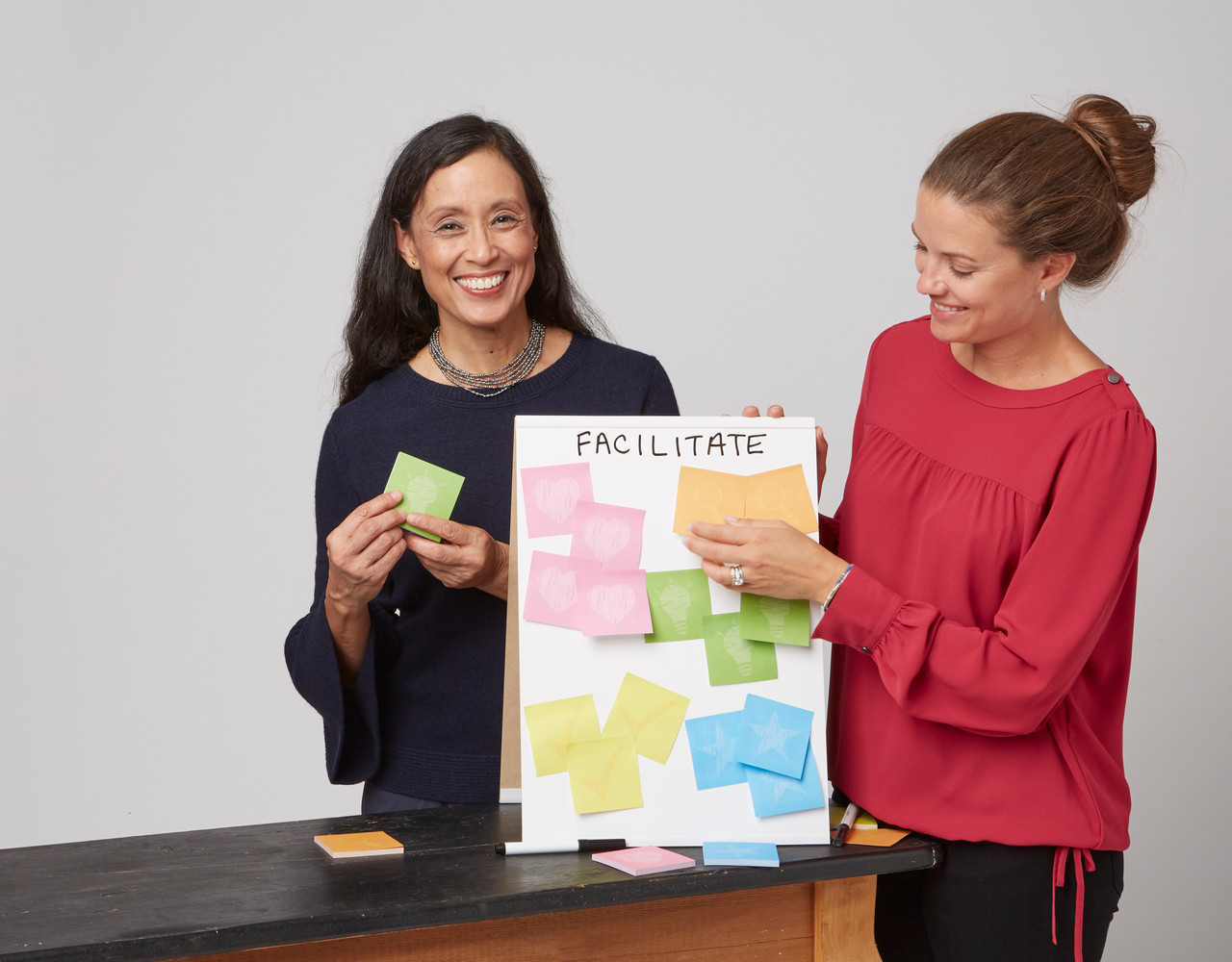 Design Thinking Sticky Notes on board