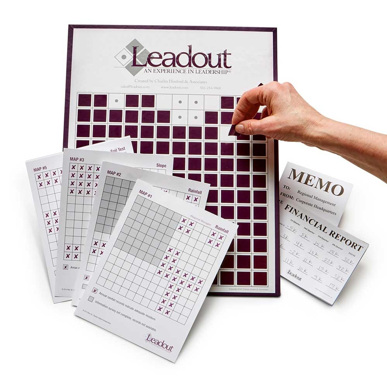 Leadout: An Experience in Leadership; removable purple markers