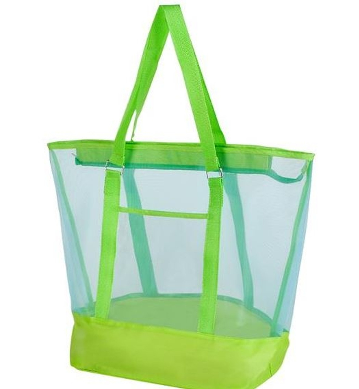 Large Mesh Bag; lime green