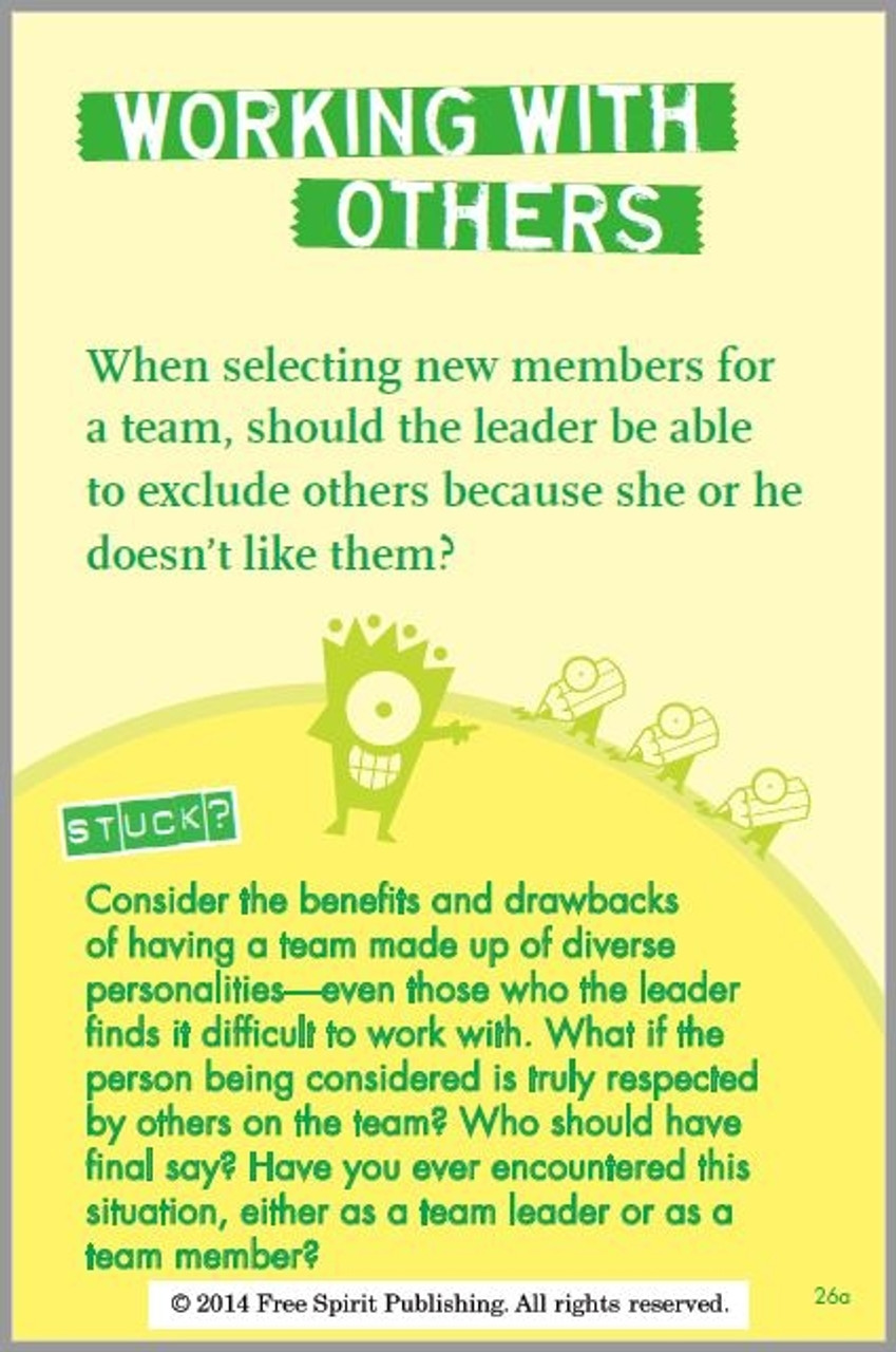 Everyday Leadership Card; Working with Others