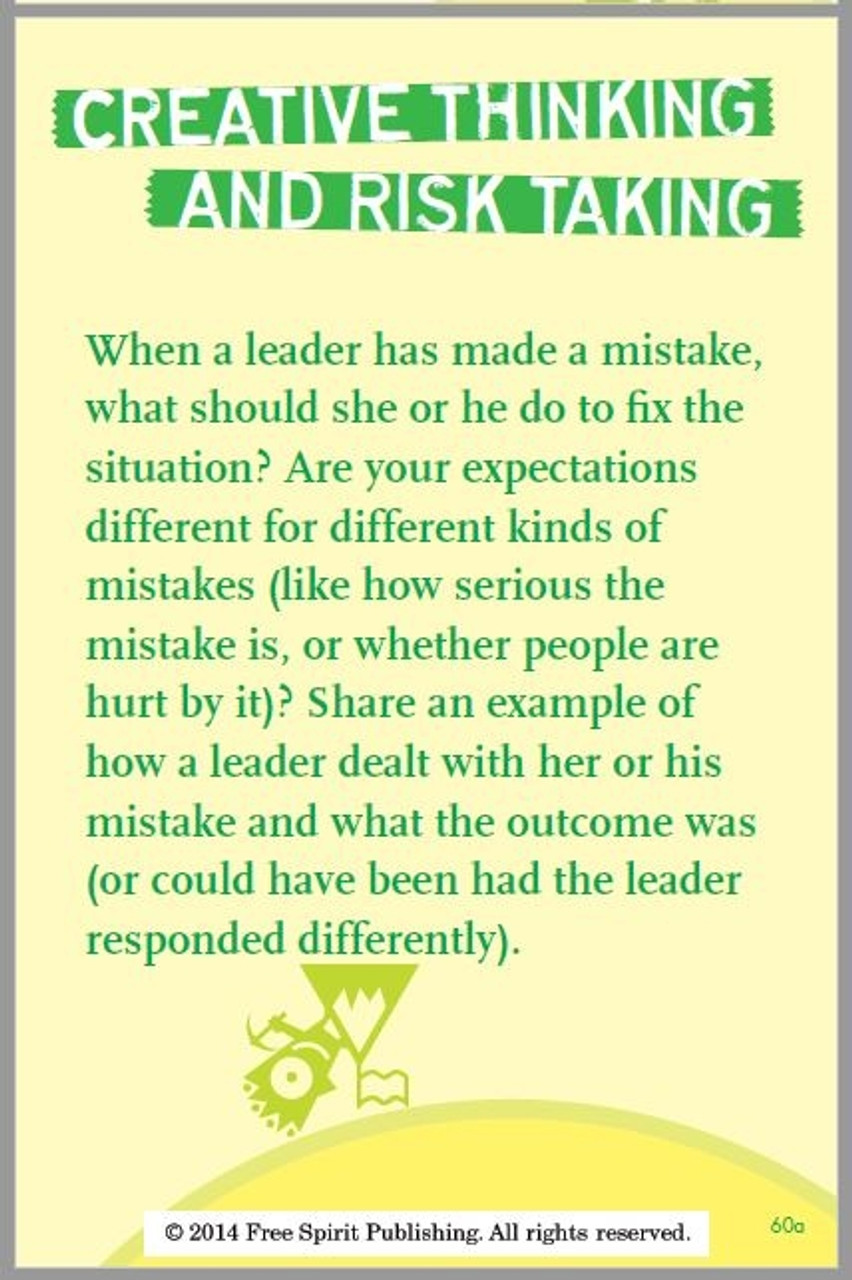 Everyday Leadership Card; Creative Thinking and Risk Taking