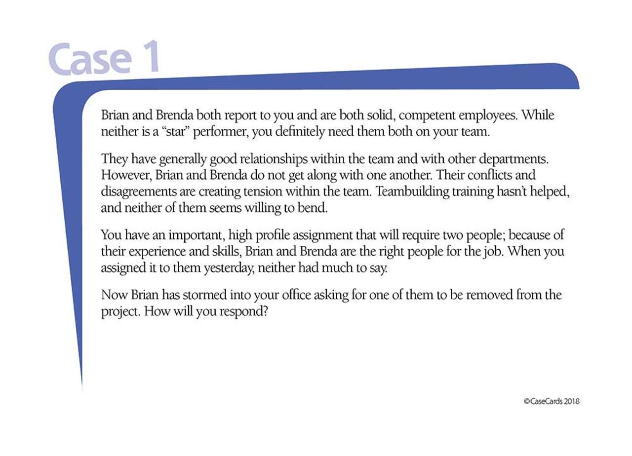 CaseCards - Team Leadership Sample