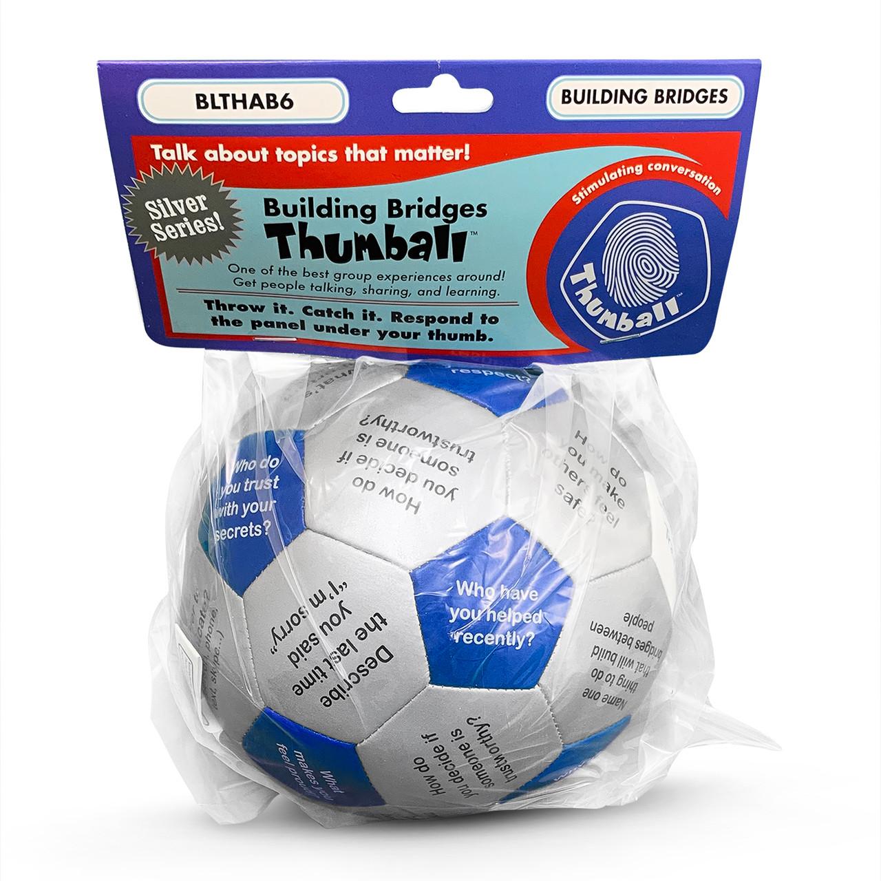 Building Bridges Thumball, in packaging