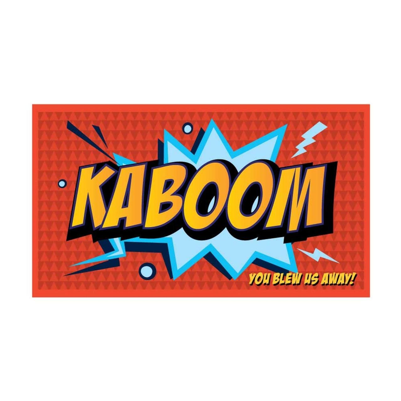 Kartoon Kudos; Kaboom