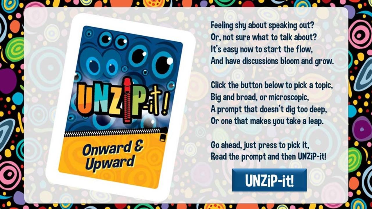 UNZiP-it! Remote w/ Onward & Upward Prompts - splash screen