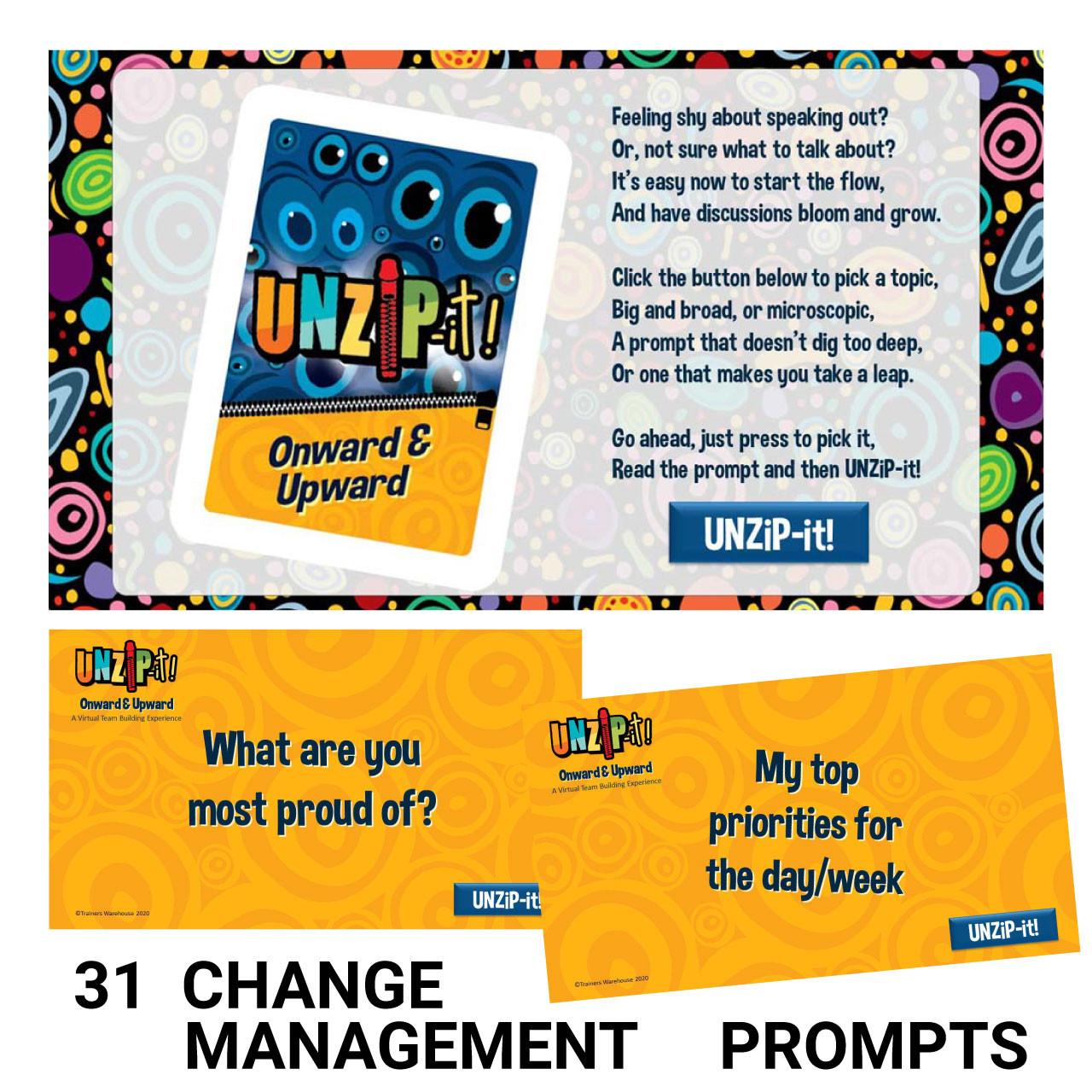 UNZiP-it! Remote w/ Onward & Upward Prompts