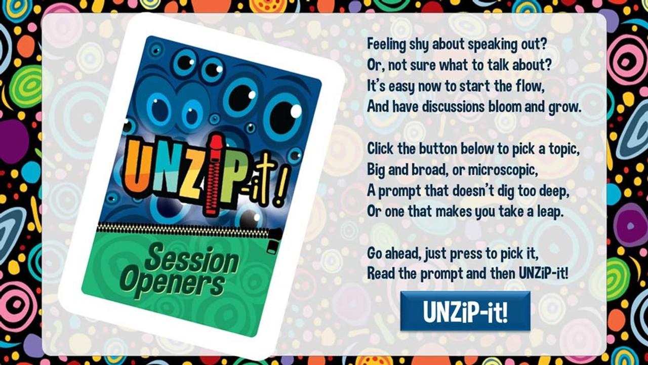 UNZiP-it! Remote w/ Session Openers Prompts - splash screen