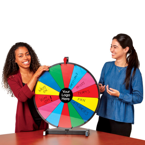 "Spin to Win 24"" Prize Wheel; in use"