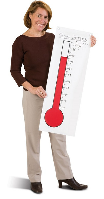 Portable Goal Getter Thermometer, in hand