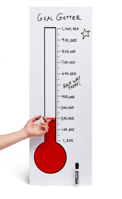 Portable Goal Getter Thermometer; red bar at bottom