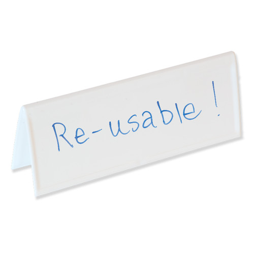 Reusable Name Card Two-sided Dry-erase Tents, Space-saver