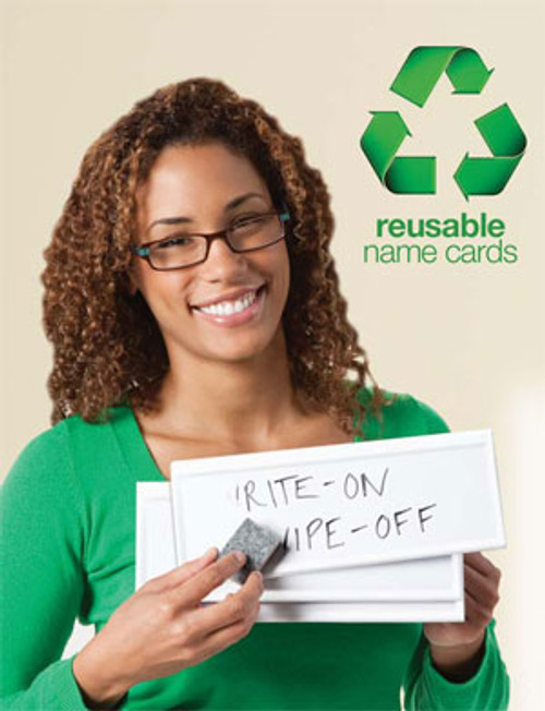 Original Reusable Name Card; in hand