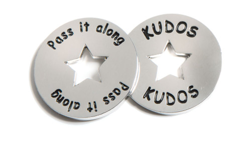 Kudos Tokens; front and back