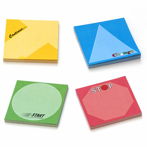 Start/Stop/Continue/Change - Sticky Notes