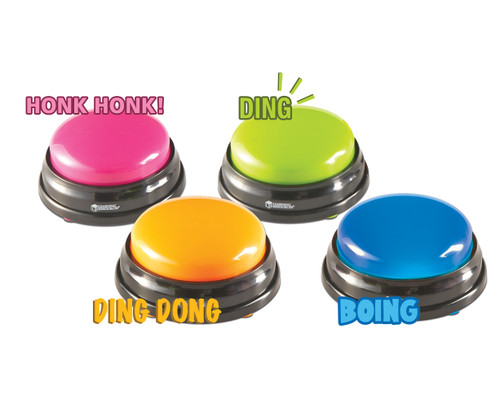 Answer Buzzers; set of 4 colors/sounds