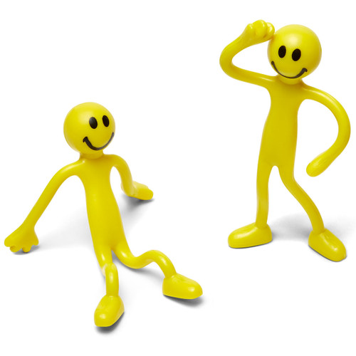 Tall Smiley Bendable Guy; two poses