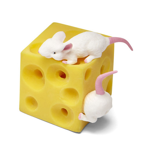 Cheese & Mice Squeeze toy