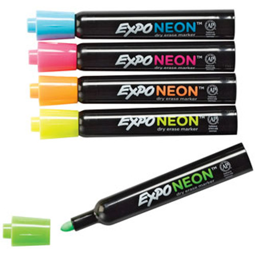 Expo Dry-Erase Fluorescent Neon Markers - blue, pink, orange, yellow, green